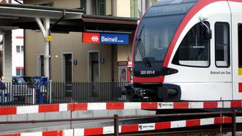Die Bahnstrecke war während über einer Stunde unterbrochen. (Symbolbild)