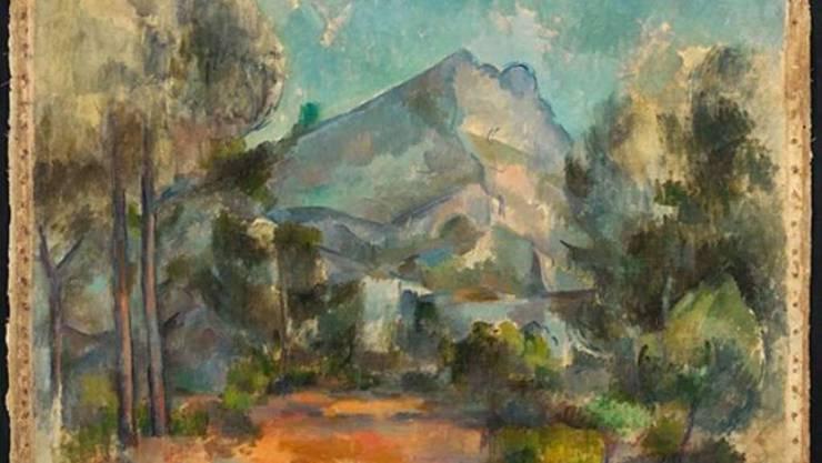 """Ein Gemälde macht Schlagzeilen: """"La Montagne Sainte-Victoire"""" von Paul Cézanne."""