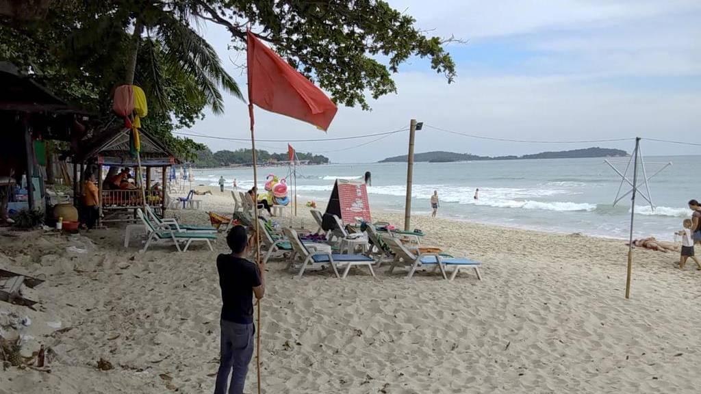 Tropensturm über Thailand vorbei