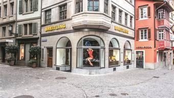 Die Breitling-Boutique in Zürich (Bild) ist nur ein paar Schritte von der Bahnhofstrasse entfernt.zvg
