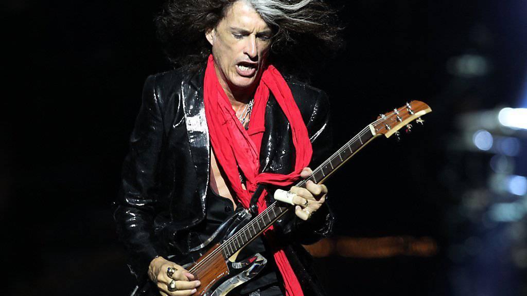 """""""Aerosmith""""-Gitarrist Joe Perry steht wieder auf der Bühne. (Archivbild)"""
