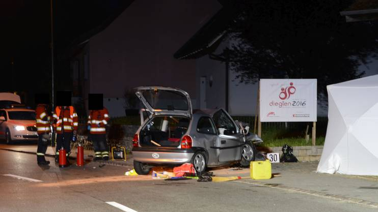 Tödlicher Verkehrsunfall in Diegten