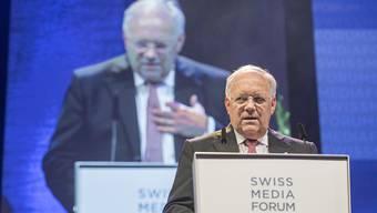 Bundesrat Johann Schneider-Ammann war bereits bei der ersten Austragung des Swiss Media Forum in Luzern dabei und kehrte vor seinem Rückzug aus der Landesregierung noch einmal zurück.