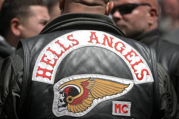 Lederjacke eines Hells-Angels-Vollmitglied.