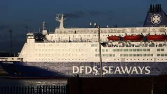 Die Fähre King Seaways im Hafen von Newcastle