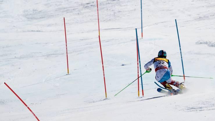 Auch Luca Aerni scheidet im zweiten Lauf aus.