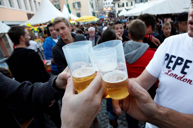Viele Besucher und viel Bier am Märet-Fescht.