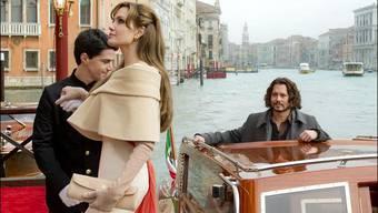 Angelina Jolie und Johnny Depp in Venedig.