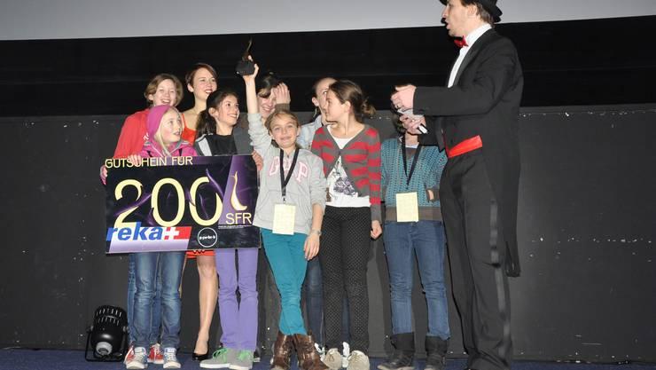 Die Blauring Gruppe M&M's als Sieger der Kategorie 99 Sekunden