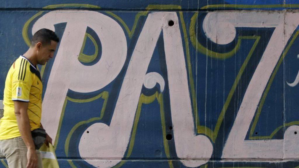 Mauer mit Friedens-Graffito in Cali, Kolumbien. (Symbolbild)