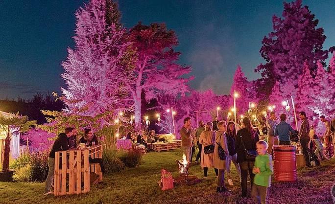 Nachts erstrahlten die Bäume – eine zauberhafte Atmosphäre.