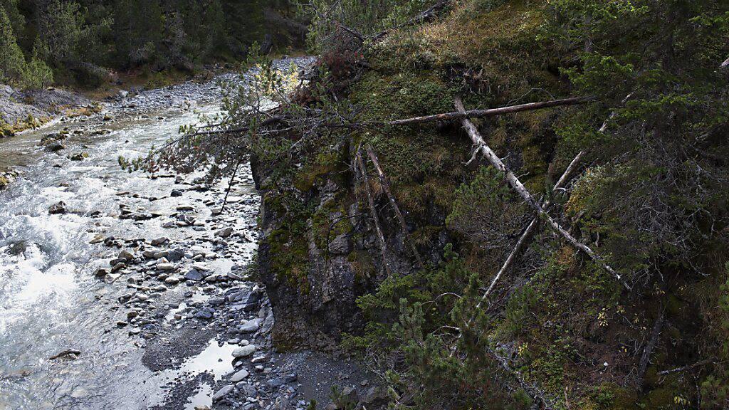 Die Sanierung des Wildbachs Spöl im Schweizerischen Nationalpark nach einem Betriebsunfall an der Staumauer Punt dal Gall oberhalb Zernez im September 2016 ist immer noch nicht unter Dach.