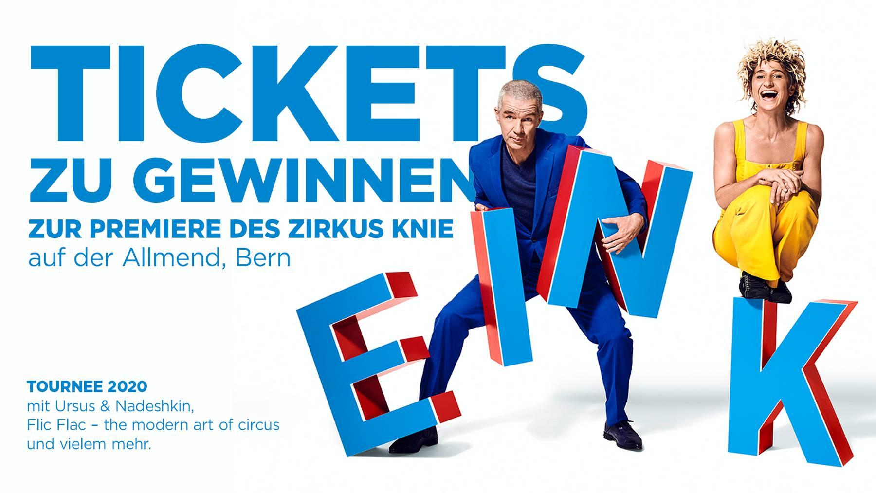 KNIE: Tournee 2020 mit Ursus & Nadeschkin und Flic Flac – The modern Art of Circus!