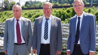 Verwaltungsratspräsident Hans Huber, Direktor Markus Blättler und Finanzchef René Trost konnten fürs Jahr 2012 gute Zahlen vermelden.