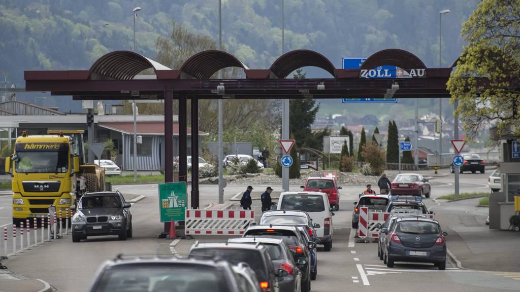 Der Grenzübergang in Au. © Benjamin Manser / TAGBLATT