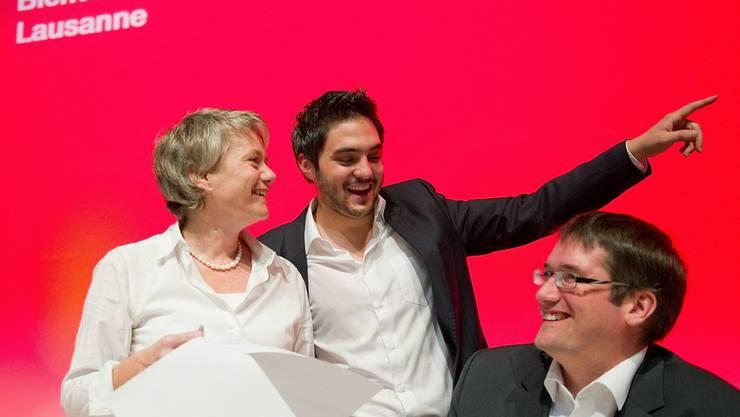 SP-Parteispitze: Vize Cédric Wermuth mit Jacqueline Fehr und Präsident Christian Levrat