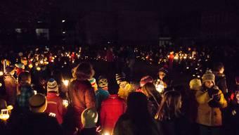 In Bremgarten leuchteten am Dienstagabend nur die Räben.