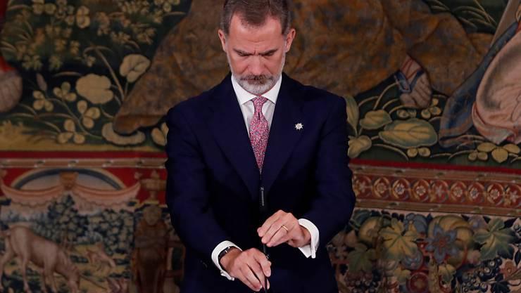 Spaniens König Felipe VI.. Foto: Pool/EUROPA PRESS/dpa