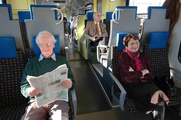 So sieht es im Innern der FLIRT-Züge aus.