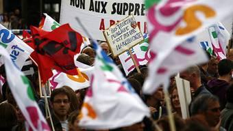 Streikende Lehrer in Paris