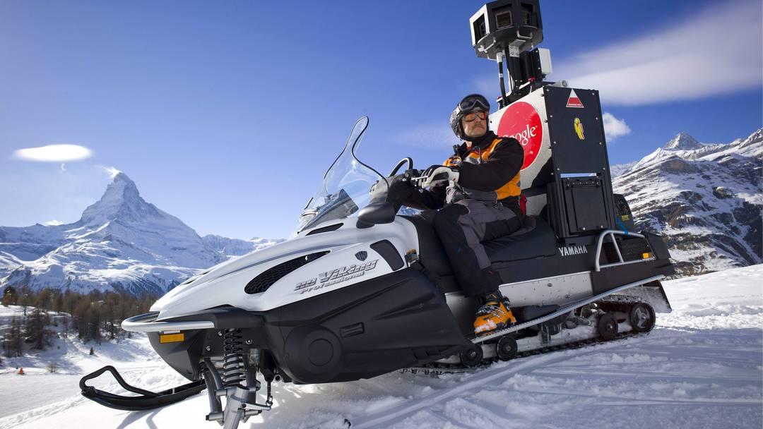Google macht Aufnahmen der Zermatter Skipisten