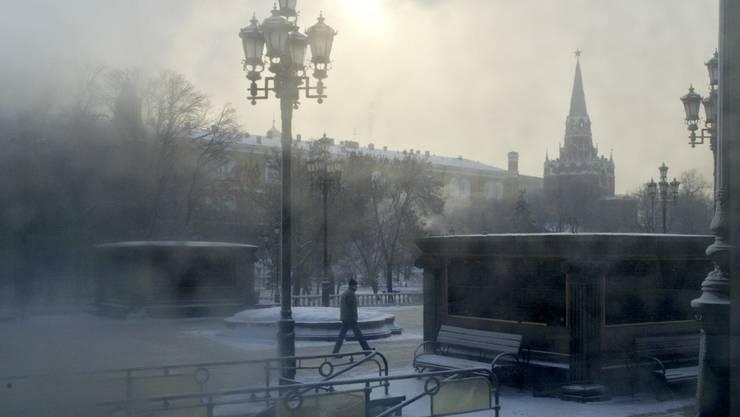 Russland erlebet einen bitterkalten Winter mit Temperaturen unter 40 Grad.