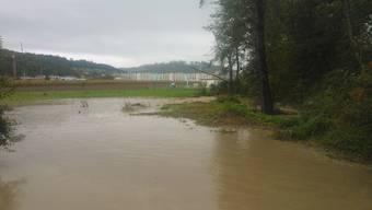Hochwasser an der Suhre 2015, bei Hirschthal