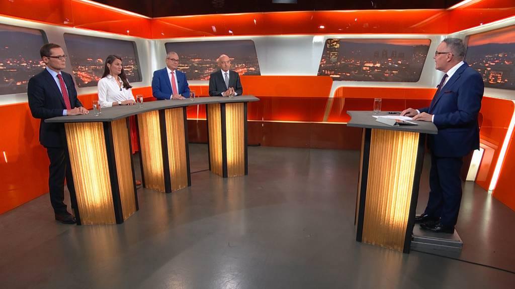 Podium Zürcher Ständeratswahlen: 1. Runde