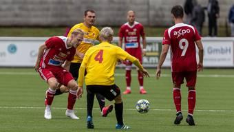 Cedric Franek (links) erzielte ein Tor für den FC Baden.