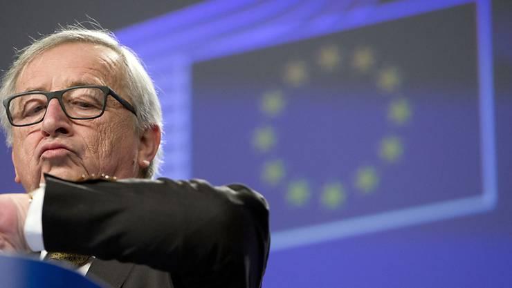 EU-Kommissionspräsident Jean-Claude Juncker hat am Dienstag auf den Brief aus der Schweiz zum Rahmenabkommen geantwortet. Die EU-Kommission sei bereit, über Präzisierungen zum ausgehandelten Rahmenabkommen zu reden, heisst es darin. (Archiv)