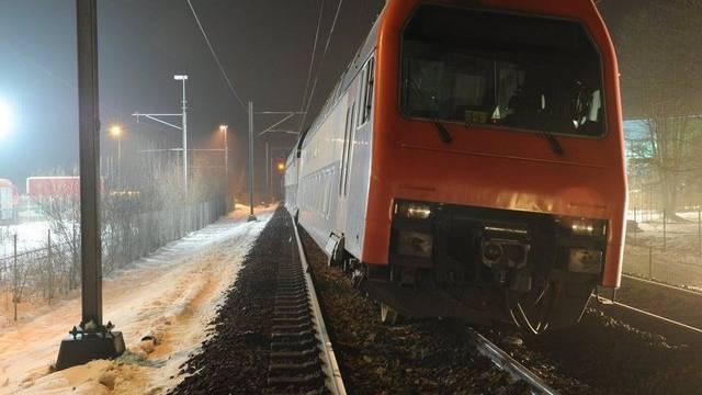 Die entgleiste S-Bahn (Bild: Kapo Zürich)