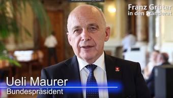Macht Werbung für seinen Parteikollegen: Bundespräsident Ueli Maurer.