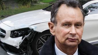 Verfahren kann sich hinziehen: Für die laufende Strafuntersuchung wegen des Unfalls von FDP-Präsident Philipp Müller gibt es keine Sonderbehandlung. (Fotomontage/Archiv)