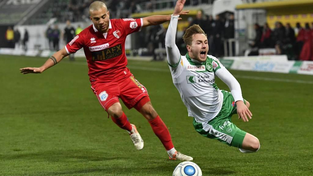 Macht einen Abflug: Lucas Cueto (rechts) wechselt zum deutschen Drittligisten SC Preussen.
