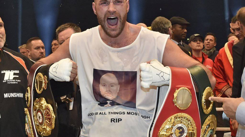 Aktuell nicht viel zu lachen: Schwergewichts-Weltmeister Tyson Fury kämpfte mit Depressionen und Drogenproblemen