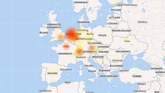 In mehreren Ländern Europas ist WhatsApp offline.