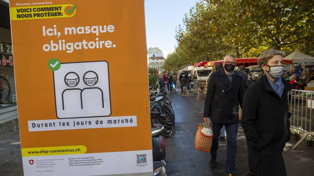 250 Franken Busse für Maskenverweigerer