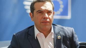 Laut einer Umfrage dürfte es bei der kommenden Wahl in Griechenland zu einem Machtwechsel kommen - Ministerpräsident Alexis Tsipras sinkt laut dem Umfragewerten in der Popularität. (Archivbild)