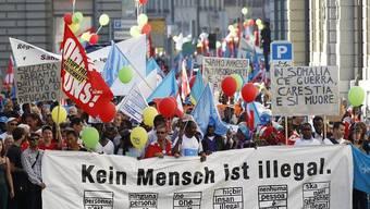 Sans-Papiers gingen für mehr Rechte auch auf die Strassen: hier eine Demonstration in Bern (Archiv)