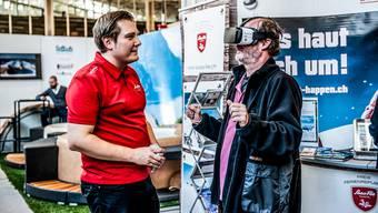 Mit der Virtual-Realits-Brille gehts ab nach Saas-Fee