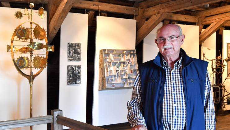 """Peter André Bloch auf Schloss Wartenfels 2017 mit """"seiner"""" Ausstellung """"Interreligiosität"""""""