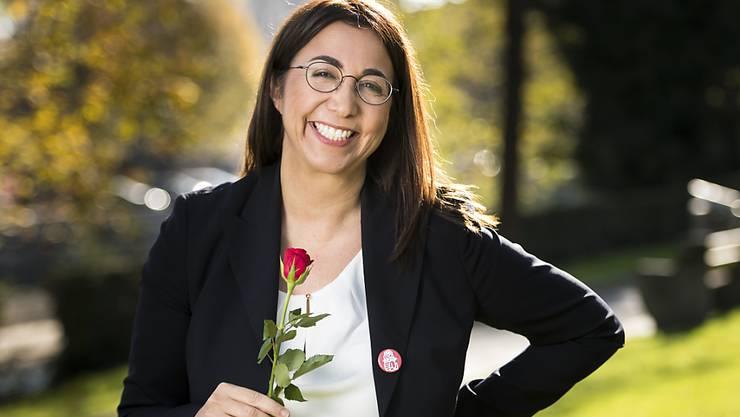 Cesla Amarelle lancierte am Donnerstag an einer Medienkonferenz in Yverdon ihre Kandidatur für einen Sitz in der Waadtländer Regierung.