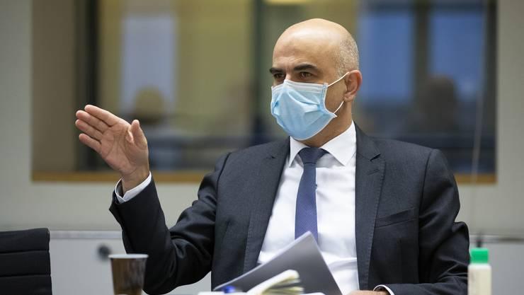 Gesundheitsminister Berset stattete am Montag dem Kanton Wallis einen Besuch ab.