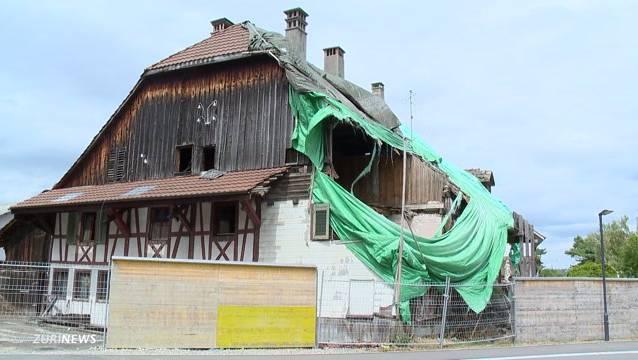 Der Gemeinderat räumt ein, dass Teile des Gebäudes ohne Bewilligung geschleift wurden.