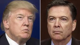 Gegenspieler: Donald Trump und James Comey.