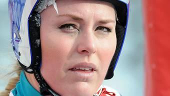 Lindsey Vonn wirkt ausgelaugt.