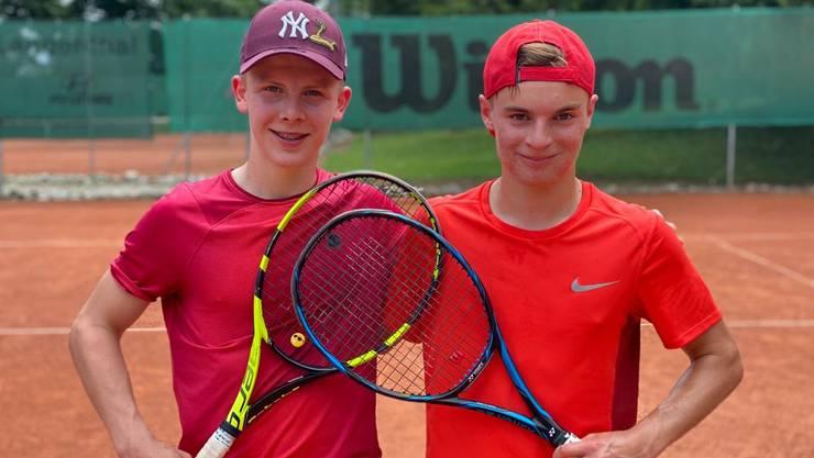 Niklas Ulrich (Sieger), Mattia Piffaretti (Finalist) (von links).