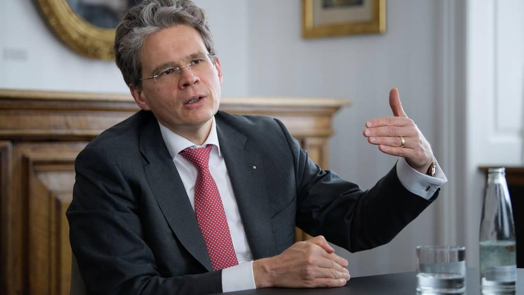 Vontobel-Chef Zeno Staub bei einem Interview.