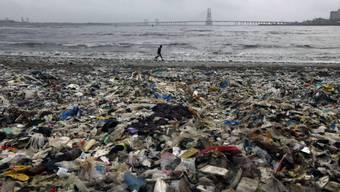 Abfall türmt sich an der Küste im indischen Mumbai (Archiv)