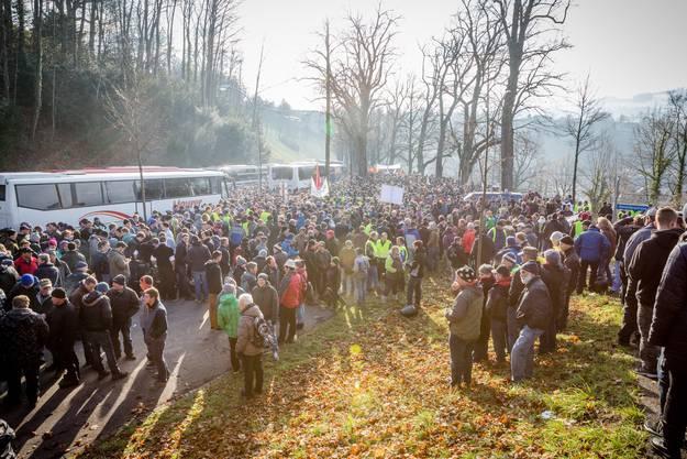 Wir begleiten die Aargauer Bauern an der Demonstration, organisiert vom Aargauischen Bauernverband.